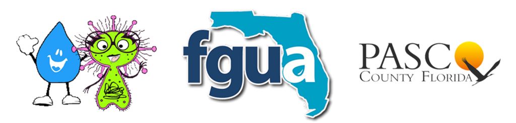 Pasco County Logo - FGUA Logo - Ami-ba and Drippy cartoon