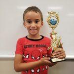 Jeremiah Serrano - Kindergarten - 3rd Place with trophy